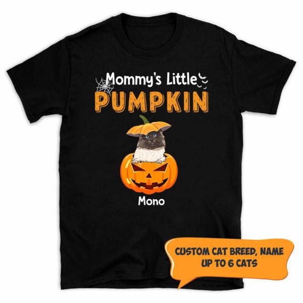 Personalized Mommy's Little Pumpkins Halloween Custom Cat Shirt 1