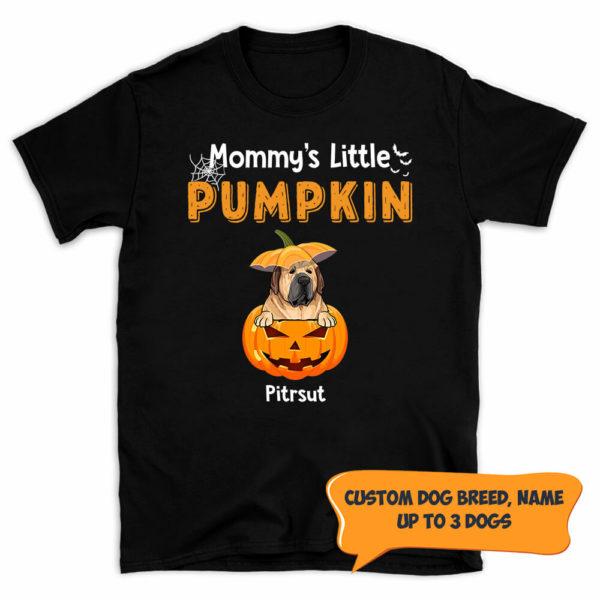 Personalized Mommy's Little Pumpkins Halloween Custom Dog Shirt 1