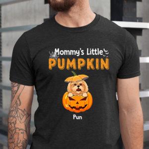 Personalized Mommy's Little Pumpkins Halloween Custom Dog Shirt1