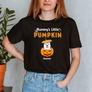 Personalized Mommy's Little Pumpkins Halloween Custom Dog Shirt2