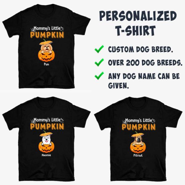 Personalized Mommy's Little Pumpkins Halloween Custom Dog Shirt3