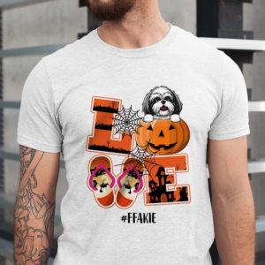 Personalized Name Love Halloween Pumpkin Custom Dog Shirt1