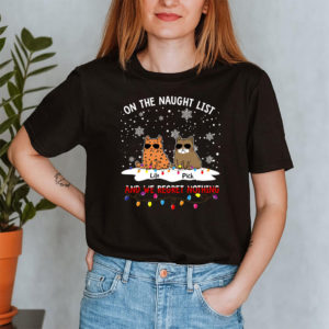 Personalized On The Naughty List And I Regret Nothing Custom Cat Shirt2