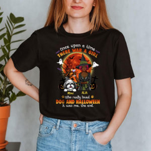 Personalized Once Upon A Time There Was A Girl Loved Dogs And Hallowen Custom Dog Shirt2