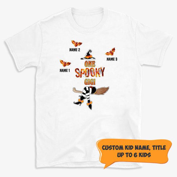 Personalized One Spooky Grandma Fall Halloween Custom Shirt