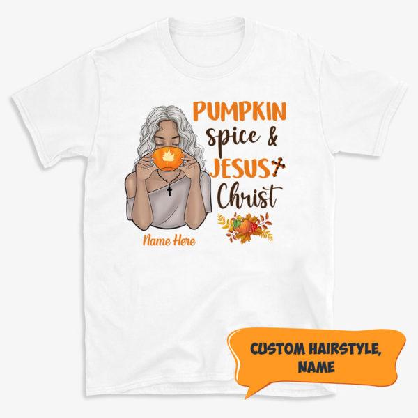 Personalized Pumpkin Spice Jesus Christ Halloween Custom Shirt