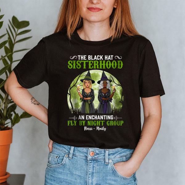 Personalized The Black Hat Sisterhood An Enchanting Fly By Night Group Custom Halloween Shirt2
