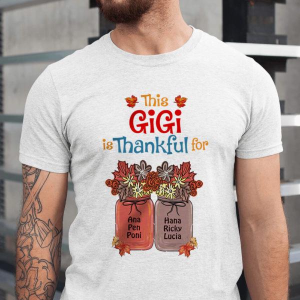 Personalized This Grandma is Thankful For Custom Halloween Shirt1