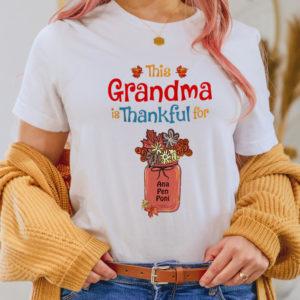 Personalized This Grandma is Thankful For Custom Halloween Shirt2
