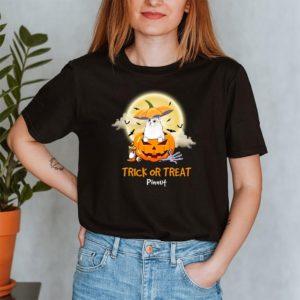 Personalized Trick Or Treat Halloween Custom Cat Shirt2