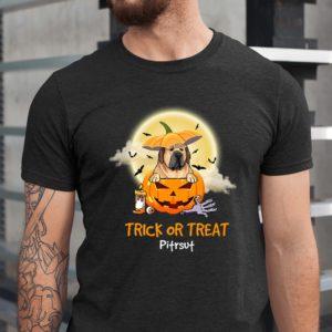 Personalized Trick Or Treat Halloween Custom Dog Shirt1