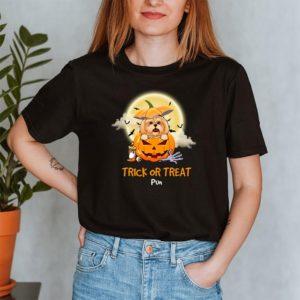Personalized Trick Or Treat Halloween Custom Dog Shirt2