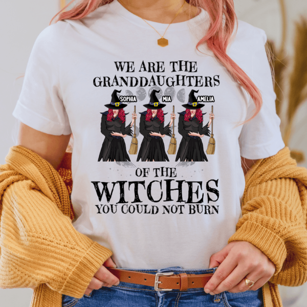 Personalized We Are The Granddaughter Of The Witches Custom Witch Lady Shirt