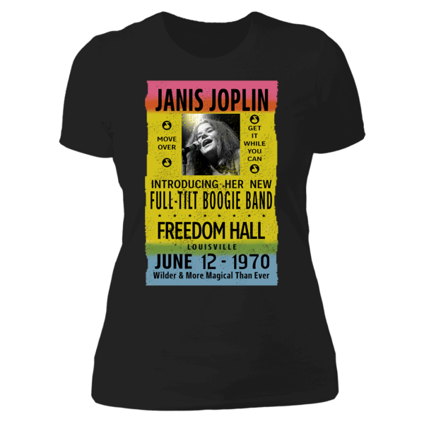 Janis Joplin Freedom Hall Ladies Boyfriend Shirt
