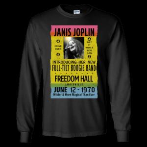 Janis Joplin Freedom Hall Long Sleeve Shirt