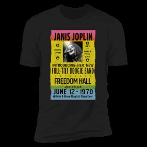 Janis Joplin Freedom Hall Premium SS T-Shirt
