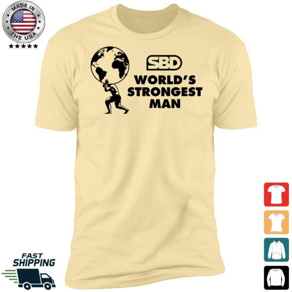 Mens SBD World's Strongest Man Premium SS T-Shirt
