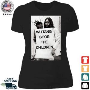 Wu Tang is For The Children John Lennon Ladies Boyfriend Shirt