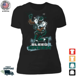 Bleed Green Jeremiah Trotter Ladies Boyfriend Shirt