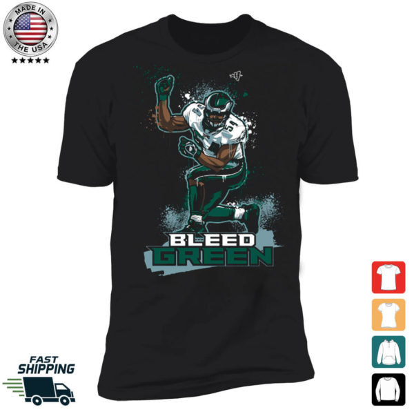 Bleed Green Jeremiah Trotter Premium SS T-Shirt