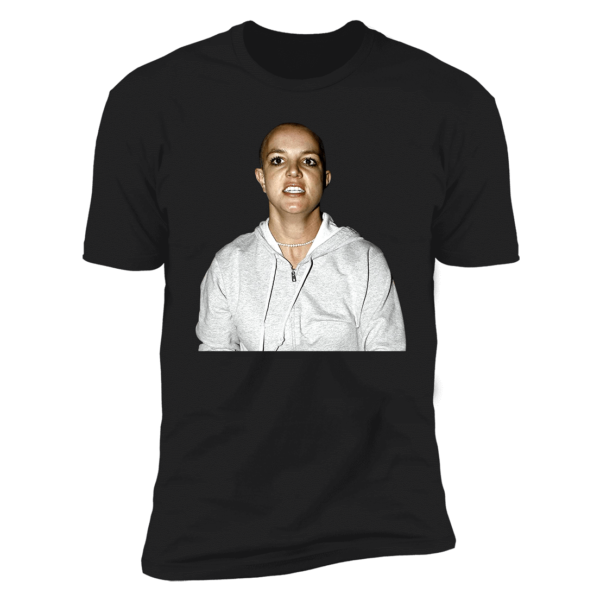 Britney Spears Shaved Head Premium SS T-Shirt