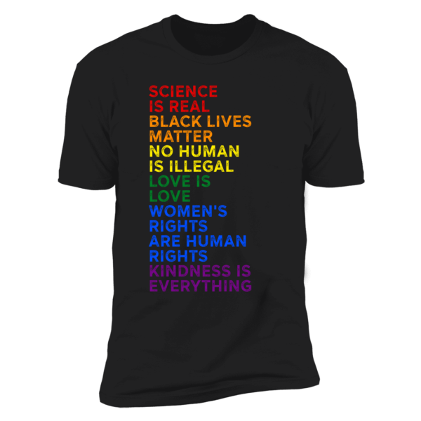 Finn Balor Science Is Real Black Lives Matter No Human Is Illegal Love Is Love Women's LGBT Premium SS T-Shirt