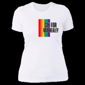 Gay For Mia Healey Ladies Boyfriend Shirt