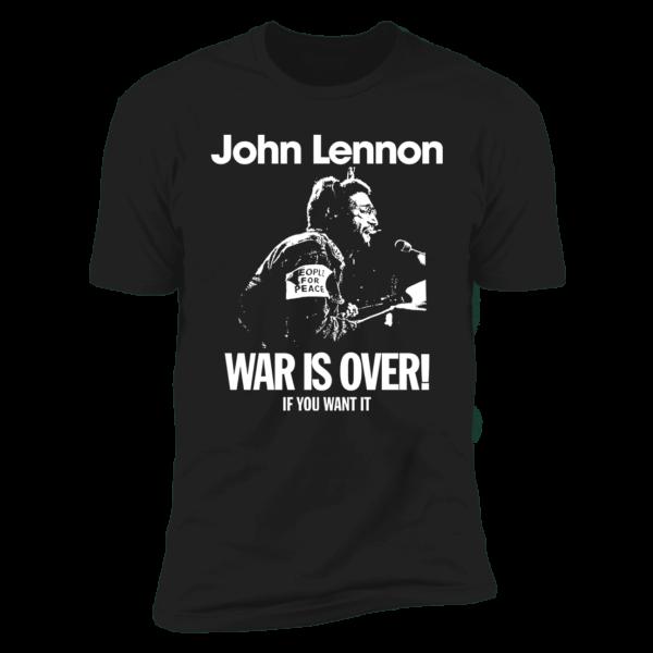 John Lennon War Is Over Premium SS T-Shirt