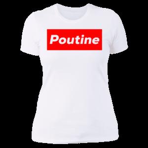 Poutine Box Logo Novelty Ladies Boyfriend Shirt