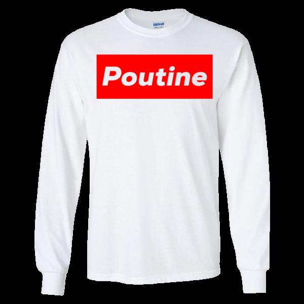 Poutine Box Logo Novelty Long Sleeve Shirt