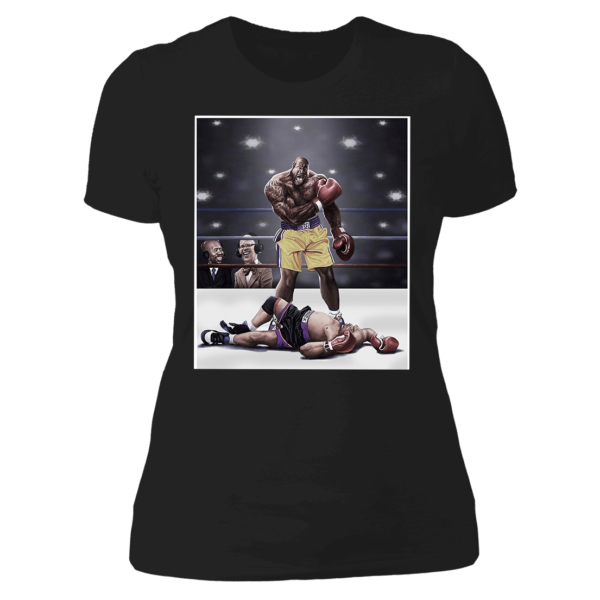 Shaquille O'neal And Chuck Knockout Ladies Boyfriend Shirt