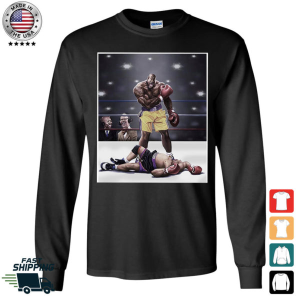 Shaquille O'neal And Chuck Knockout Long Sleeve Shirt